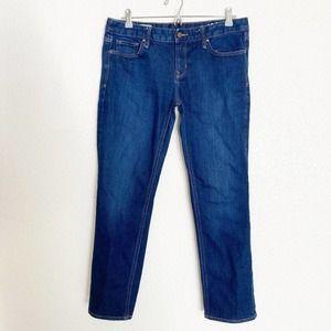 Gap Jeans Real Straight Blue Dark Wash Sz 31 short
